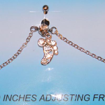 piercing nombril avec chaine